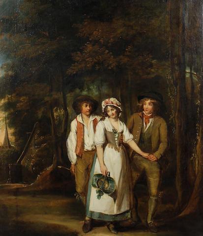 Follower of Francis Wheatley (London 1747-1801) Amorous rivalry