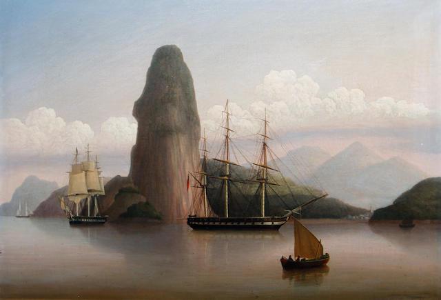 George Mounsey Wheatley Atkinson (British, circa 1806-1884) Entrance to Rio de Janeiro, Brazil