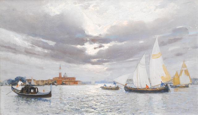 Camillo Bortoluzzi (Italian, 1868-1933) The Venetian Lagoon