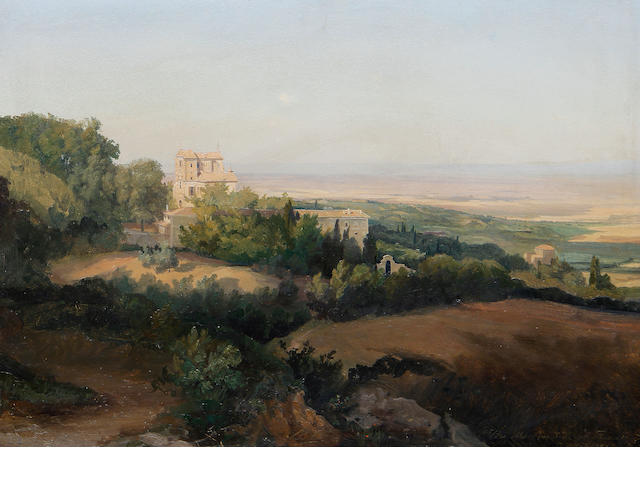 Attributed to Gustaf Wilhelm Palm (Swedish, 1810-1890) Villa Aldobrandini a Frascati