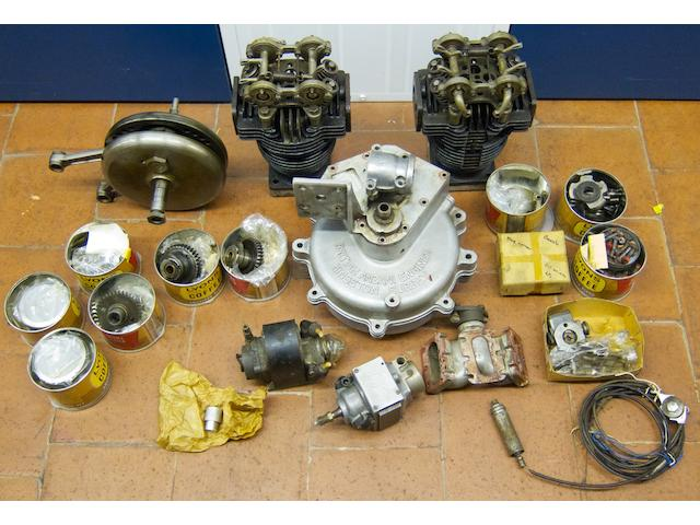 A believed complete British Anzani 8 valve 1098cc v-twin engine,