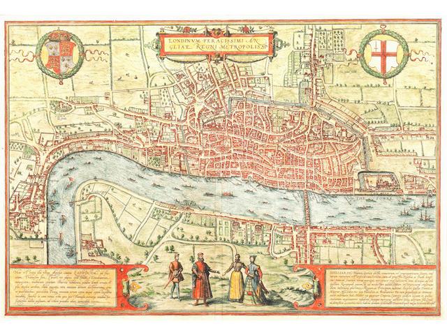 LONDON BRAUN (GEORG) and FRANZ HOGENBERG. Londinum, feracissimi Angliae regni metropolis