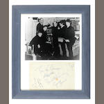 Autographs of the Beatles and film director Richard Lester, 1964,