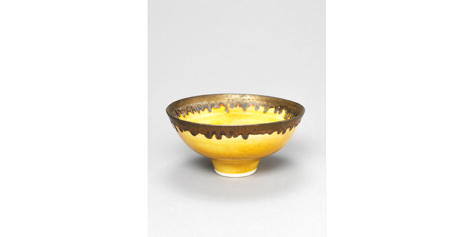 Dame Lucie Rie A Footed Bowl, circa 1975