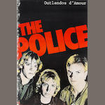 The Police: A promotional poster for the debut album 'Outlandos d'Amour', 1978,