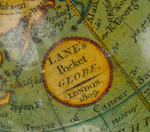 A Nicholas Lane 2 3/4-inch pocket globe, English, published 1809,