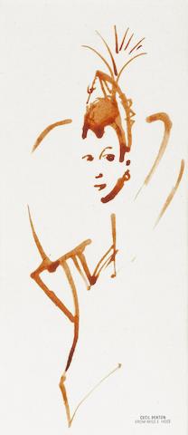 A design sketch by Cecil Beaton,