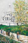 Maurice Utrillo (French, 1883-1955) Sacré Cœur de Montmartre et Square Saint-Pierre