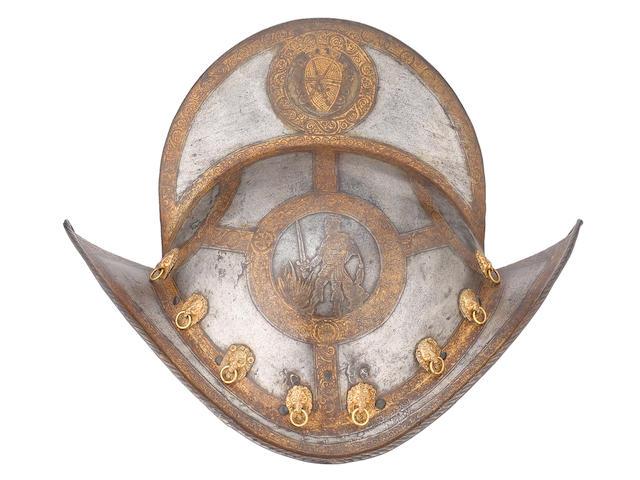 A Saxon Electoral Guard Comb Morion