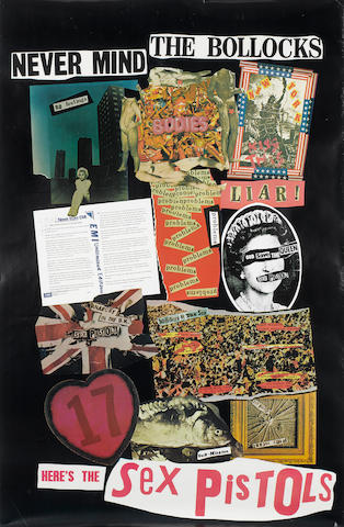 Sex Pistols: a Virgin Records promo poster for the album 'Never Mind The Bollocks Here's The Sex Pistols',