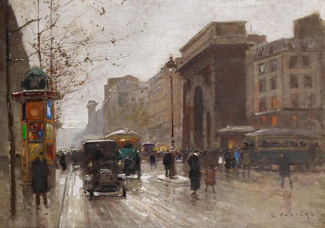 Edouard Henri Leon Cortès (French, 1882-1969) Porte Saint Martin