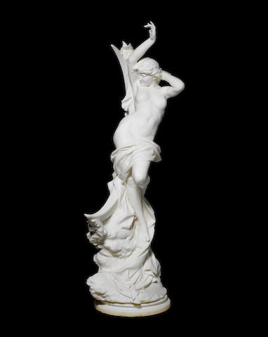 Vittorio Caradossi, Italian (1861-1918) A large Carrara marble figure of a moon nymph