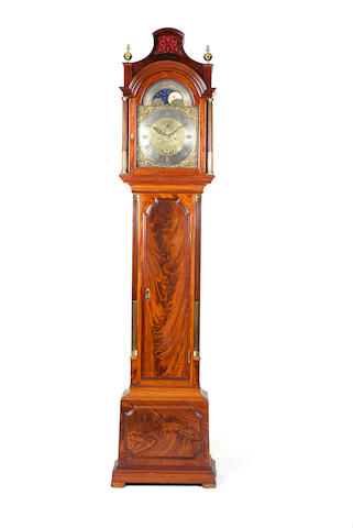 A good late 18th century mahogany longcase clock with moonphase Lamb and Webb, London