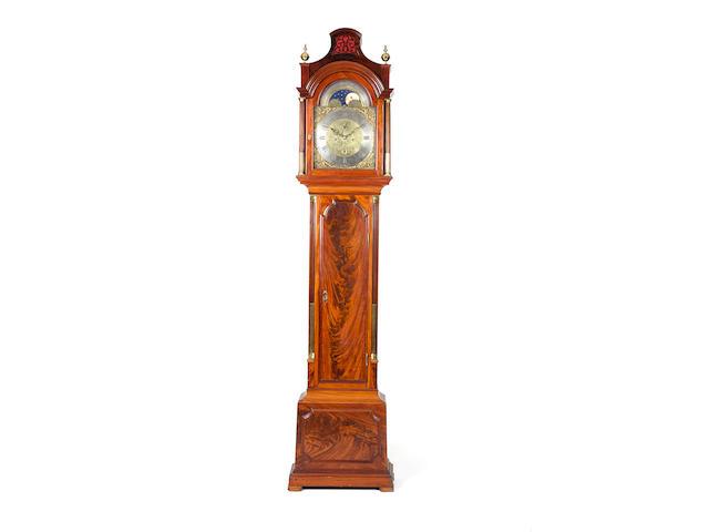 A good late 18th century mahogany longcase clock with moonphase Lamb and Webb, London