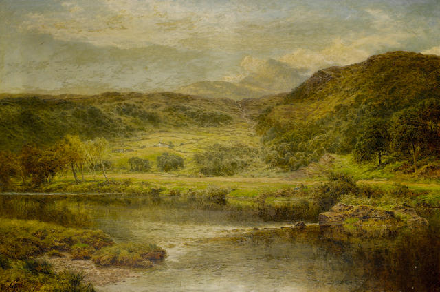 Benjamin Williams Leader, RA (British, 1831-1923) In a Welsh valley
