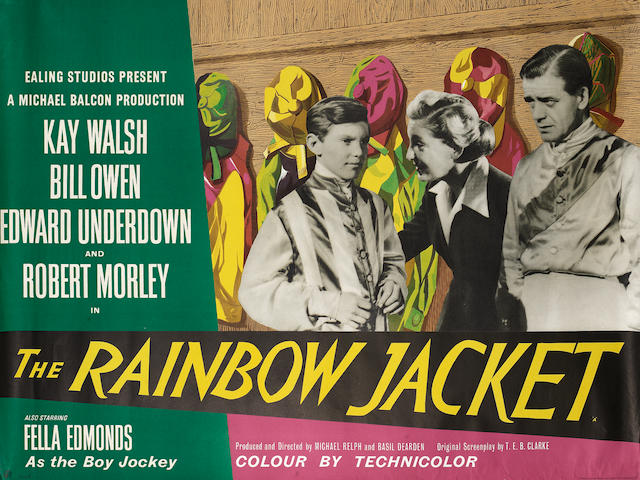 Ealing Studios: Five British posters, titles comprising: The Rainbow Jacket, The Loves of Joanna Godden, Mandy, The Overlanders and The Feminine Touch (AKA A Lamp Is Heavy),