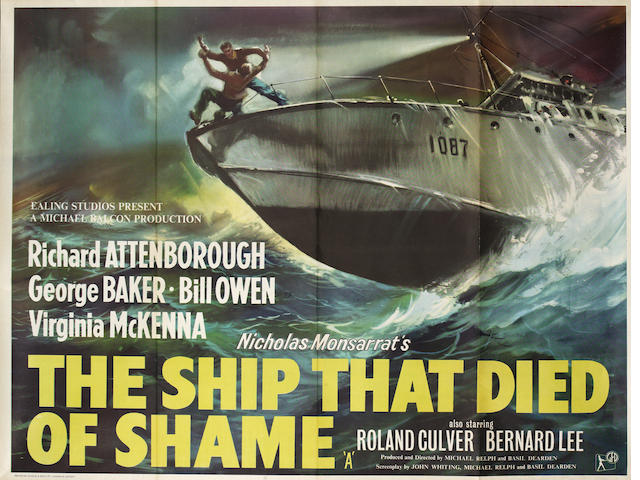 Ealing Studios: Three 1950s British Quad posters, titles comprising: On The Barrier Reef (documentary aka Under The Southern Cross), The Ship That Died Of Shame and The Maggie, 4