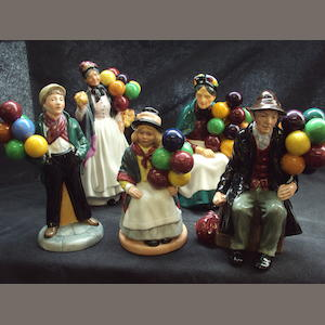 A small collection of Royal Doulton figurines