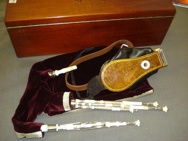 A set of Silver and Ivory Northumberland Small Pipes (2)