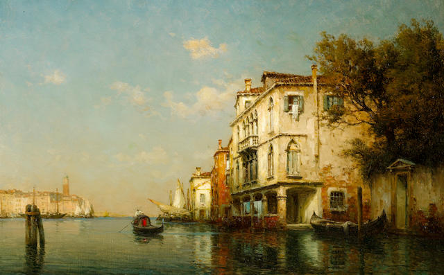 Antoine Bouvard (French, 1870-1956) On an Venetian backwater