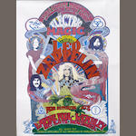 A poster for Led Zeppelin's 'Electric Magic' concert at the Empire Pool, Wembley,