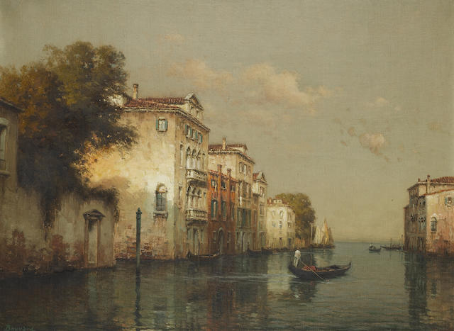 Antoine Bouvard (French, 1870-1956) Venetian backwaters