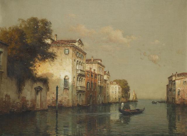 Antoine Bouvard (French, 1870-1956) Venetian backwaters
