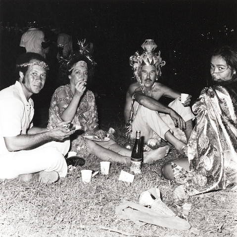 Attributed to Robert Mapplethorpe (American, 1946-1989) Party guests, Mustique, 1976