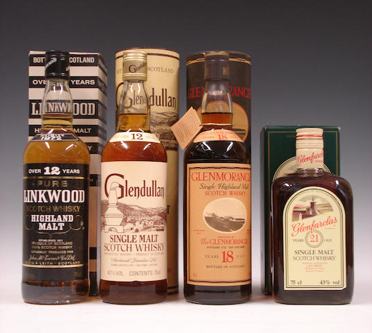 Linkwood-12 year old-1972Glendullan-12 year oldGlenmorangie-18 year oldGlenfarclas-21 year old
