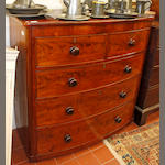 A late 19th Century mahogany bowfront chest of drawers,
