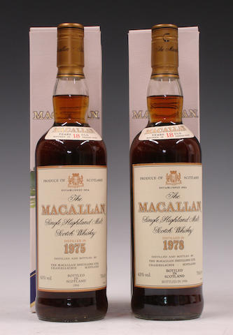 The Macallan-18 year old-1975  The Macallan-18 year old-1978
