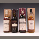 Glen Moray-24 year old-1962Talisker-1986The Glendronach-15 year oldBladnoch-10 year old