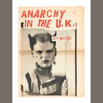 Sex Pistols: An 'Anarchy In The UK' newspaper,