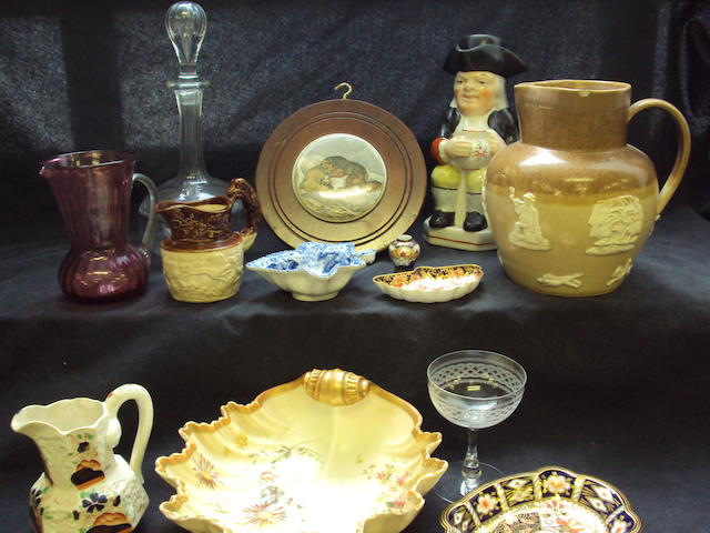 Mixed collection of ceramics and glass