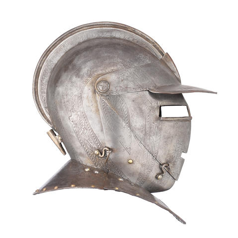 A Flemish Or North Italian Close Helmet From A Cuirassier Armour