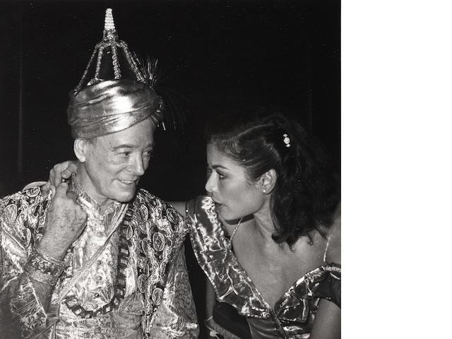 Robert Mapplethorpe (American, 1946-1989) Oliver Messel and Bianca Jagger, Mustique, 1976 Paper 35.6 x 27.7cm, image 13.9 x 13.8cm