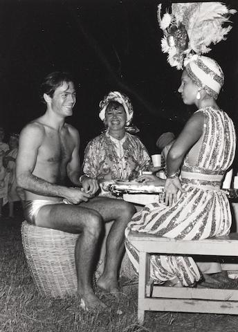 Robert Mapplethorpe (American, 1946-1989) Scott Kalani Durdan, Lady Rothermere and Caroline Herrera, Mustique, 1976 Paper 35.5 x 27.7cm, image 14.3 x 10.2cm