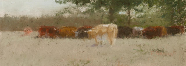 Charles Franklin Reaugh (American, 1860-1945) Cattle grazing