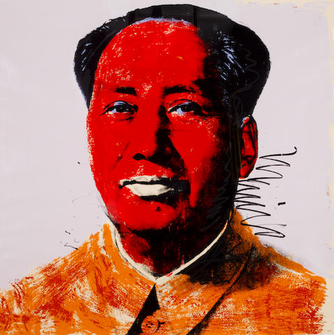 Andy Warhol (American, 1928-1987) Mao Screenprint printed in colours, 1972, from the portfolio of ten, on Beckett high White paper, signed in ball point pen and numbered from the edition of 250 verso, with the rubber stamp verso, printed by Styria Studio, New York,  published by Castelli Graphics and Multiples Inc., New York, the full sheet, 914 x 914mm (36 x 36in)(SH)