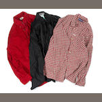 MJ 3 shirts (Red, checkered, black)