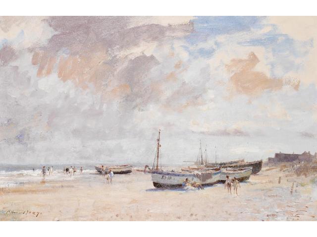 Edward Seago R.W.S. (British, 1910-1974) The Beach at Kessingland 51 x 76 cm. (20 x 30 in.)