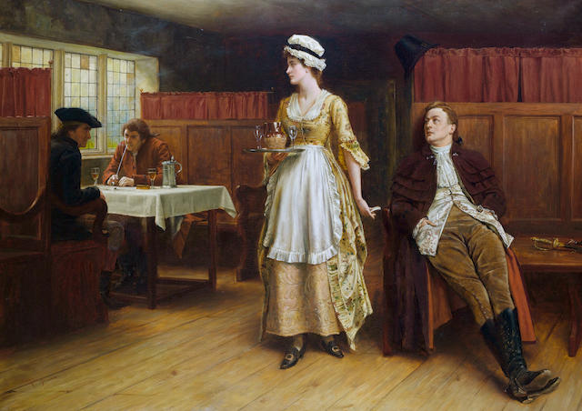 George Goodwin Kilburne, RI, RBA (British, 1839-1924) Forewarned is forearmed
