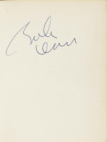An autographed copy of 'In His Own Write' by John Lennon,