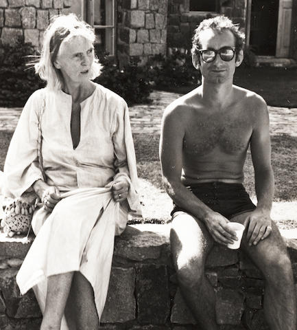 Robert Mapplethorpe (American, 1946-1989) Mrs. Rosie Baldwin and The Hon. Guy Nevill, Mustique, 1976 Paper 35.5 x 27.7cm, image 15.3 x 13.8cm