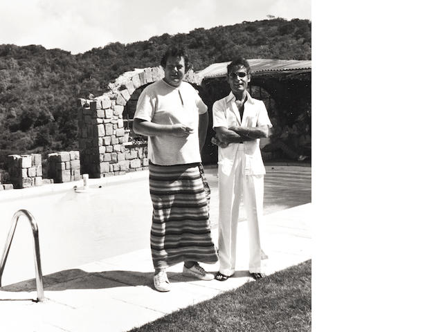 Robert Mapplethorpe (American, 1946-1989) Charles Benson and John Stephanides, Mustique, 1976 Paper 35.6 x 27.8cm, image 14.9 x 14cm