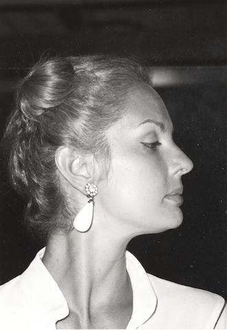 Robert Mapplethorpe (American, 1946-1989) Carolina Herrera, Mustique, 1976 Paper 35.5 x 27.8cm, image 12.8 x 8.8cm