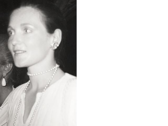 Robert Mapplethorpe (American, 1946-1989) Carolina Herrera, Mustique, 1976 Paper 35.5 x 27.8cm, image 15.3 x 9.3cm