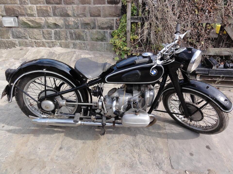 c.1937 BMW 494cc R5 Frame no. 502179 Engine no. 504054