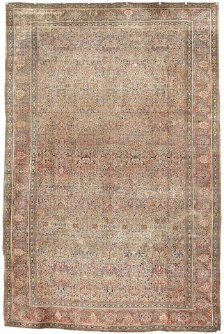 A Kashan Mohtasham carpet, Central Persia, 528cm x 333cm
