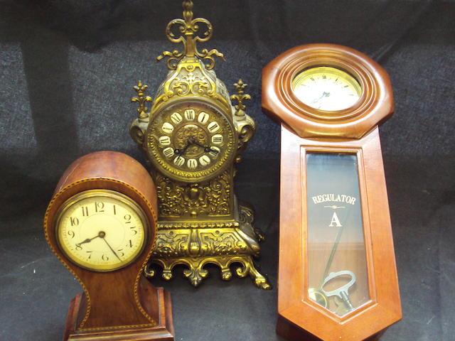 A French brass mantel clock